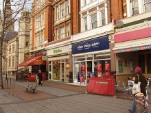 Ealing, Shops, New Broadway, London © David Hawgood